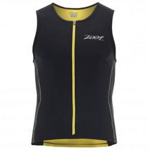 New listing Zoot - Men's Performance Fz Tri Tank - Black/Pure Yellow - Medium