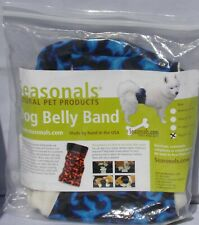 """Seasonals Natural Pet Products Dog  Belly Band King size 38"""" - 42"""" Blue Flames"""