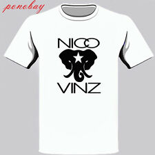 Nico and Vinz Black Star Elephant Hip Hop Album Men's White T-Shirt Size S-3Xl