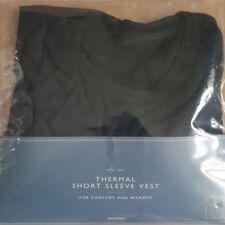 NEW John Lewis Short Sleeve Thermal Vest Top Black, XL Extra Large rrp £15