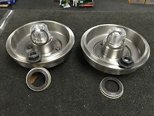 FORD FOCUS REAR BRAKE DRUMS WHEEL BEARING FITTED ABS RING