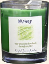 Crystal Journey Herbal Magic Glass Filled Votive Candle - Money Ax-Ay-Abhi-14586