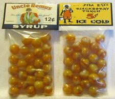 """2 Bags Of Uncle Remus Syrup """"Black Americana"""" Promo Marbles"""