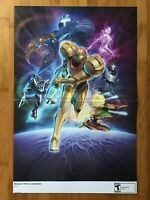 2007 Official Metroid Prime 3: Corruption Wii 2-Sided Poster Authentic Samus Art