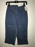 Croft & Barrow women's Sz XS stretch pull on capri jean pants Elastic Waist