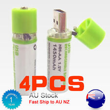 New Lithium-Ion Rechargeable Batteries AA USB Eco Booster Battery 1.2V 4 Pack