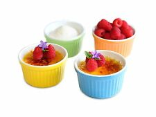 Uno Casa Creme Brulee Ramekins 5 oz Dishes Set of 4 Baking Cups... Free Shipping