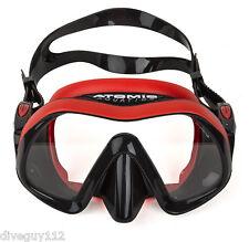 Atomic Venom Frameless Dive Mask for FreeDiving Scuba Snorkeling Regular - Red