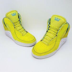 Supra x Lil Wayne Spectre Chimera Highlighter Acid Yellow Mens Sneakers Size 10