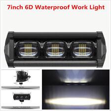 "1 Pcs Waterproof 7"" 6D Lens Single Row Car SUV ATVs 30W 6000K LED Working Light"