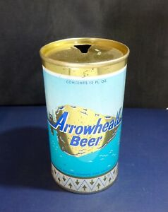 ARROWHEAD Rare GOLD Pull Tab Vintage Beer Can Cold Spring