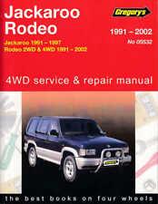 Gregorys Holden Rodeo / Jackaroo TF Petrol 2WD & 4WD 1991-2002 Workshop Manual