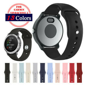 A# Silicone Sport 20mm Watch Band Strap For Garmin Vivoactive 3/Forerunner 645