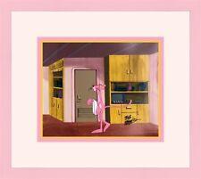 Signed Friz Freleng Pink Panther Original Hand Painted Animation Prod Cel Framed