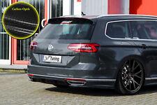 Difusor trasero + partes laterales de ABS VW Passat 3g b8 r-line con Abe carbon óptica