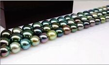 "LONGER 36""10-11MM TAHITIAN GENUINE BLACK BROWN CHOCOLATE ROUND PEARL NECKLACE"