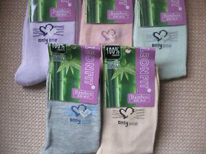 Ladies Bamboo socks by Leonfit, sizes 3-5, 5-7,Pastel hearts + logo