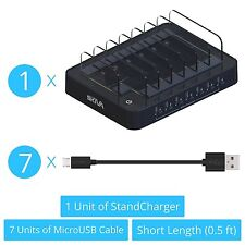 Skiva 7-Port USB Charging Station Dock (+7 free micro-usb cables) (AC122)