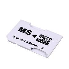 1x NEU CR-5400 MicroSD MicroSDHC TF-Karte zum MS Pro Duo Dual Slot Adapter Heiß