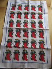 IRISH LINEN TEA TOWEL CHRISTMAS STOCKINGS BY ULSTER MADE IN IRELAND