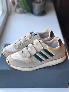 Vintage 1990 Adidas Quitar Sneaker Rare Made In Thailand Size EU 39 1/3 US 6.5