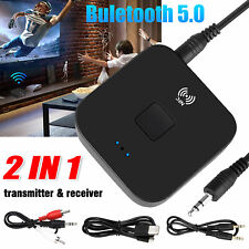 Bluetooth 5.0 Dongle Audio Receiver 3.5mm Jack AUX NFC Wireless Stereo Adapter