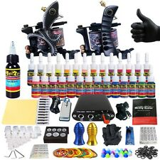 Complete Tattoo Machine Kit - 2 Profi Gun Set with 28 Ink Power Supply TK204-25