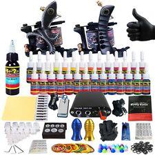 Complete Tattoo Machine Kit - 2 Profi Gun Set with 28 Ink Power Supply TK204-25