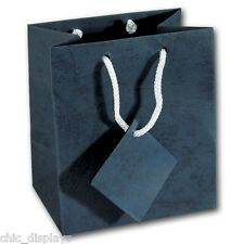 """LOT OF 10 NAVY BLUE GIFT BAGS WEDDING GIFT BAGS WHOLESALE PARTY BAGS 9 3/4"""" Tall"""