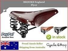 BIKE SEAT SPRUNG - BROOKS ENGLAND - FLYER LEATHER SADDLE - OLD SCHOOL!
