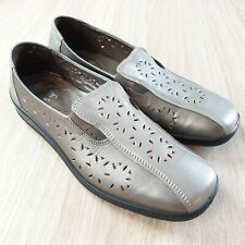 Hotter Womens Silver Rimini Slip On Shoes Uk 6