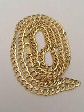 """Chain 4.5 Gram 24"""" inch 3 Mm Real Italian 10k Yellow Gold Men Women Cuban"""