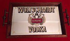 Vintage Wolfschmidt Geniune Vodka Pub Bar Mirror