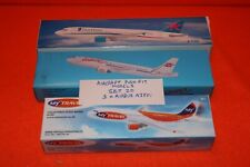 SPECIAL OFFER SET No.20 3 x AIRBUS A320 PUSH FIT MODELS+STAND 1-200 SCALE APPROX