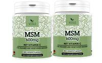 MSM +Vitamin C 730 Kapseln Vegan Unübertroffen in Reinheit und Qualität 99,9%