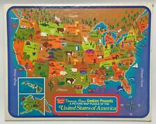 Vintage 1960s Duncan Hines United States of America Picture Map Puzzle USA Made