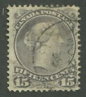 CANADA #30 USED LARGE QUEEN VF DATED