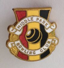 Middle Park Bowling Club Small Badge Pin Lawn Bowls (M23)