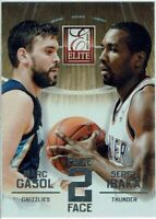 Panini Basketball Carte Elite 2013/14 Face To Numéro 4 Marc Gasol Serge Ibaka