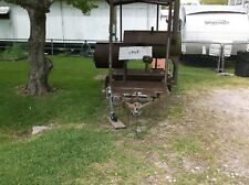 Bbq Pit On Covered Trailer