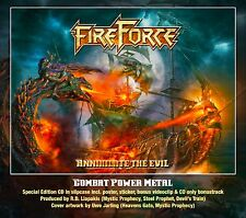 FIREFORCE - Annihilate The Evil CD 2017 Combat Metal +Bonustrack+Poster+Sticker