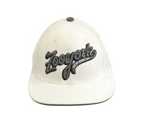 Zoo York COOPERSTOWN White Charcoal Embroider Logo Fitted Baseball Cap Men's Hat