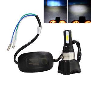 Universal 40W Hi/Lo Beam White LED Motorcycle Headlight Bulb H4 P15D BA20D H6 S2