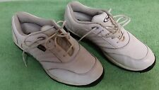 Etonic Mens Comfort  Golf Shoes Size 11M  White Leather Uppers Sports  Laces