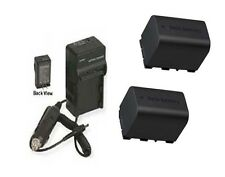 2 BN-VG121 BN-VG121E BN-VG121U Batteries + Charger for JVC GZ-HM690 GZ-HM690U