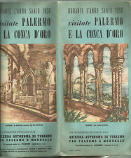 DEPLIANT GUIDA TURISTICA D' EPOCA  PALERMO ANNO SANTO 1950 SOFIA LADUCA FIRMA