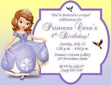 12 Custom Sofia the First Birthday Invitations ~ Style #5