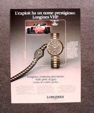 [GCG] L220- Advertising Pubblicità -1984- LONGINES VHP , CONQUEST