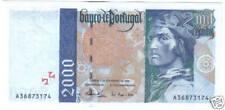 PORTUGAL 2000 ESCUDOS 1996 UNC