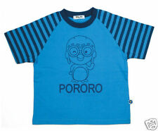Pororo Animation Characters Stripe T-Shirt (Blue 07)